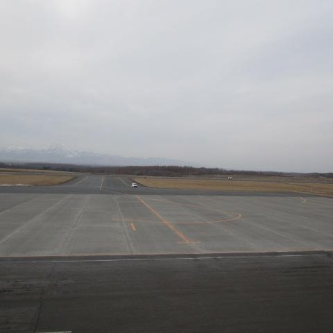夕方の中標津空港です。