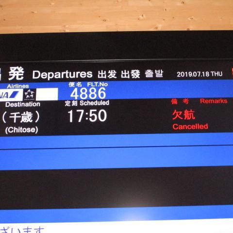 新千岁最后班停航的通知(delayed)