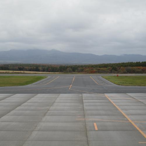 今朝の中標津空港です。